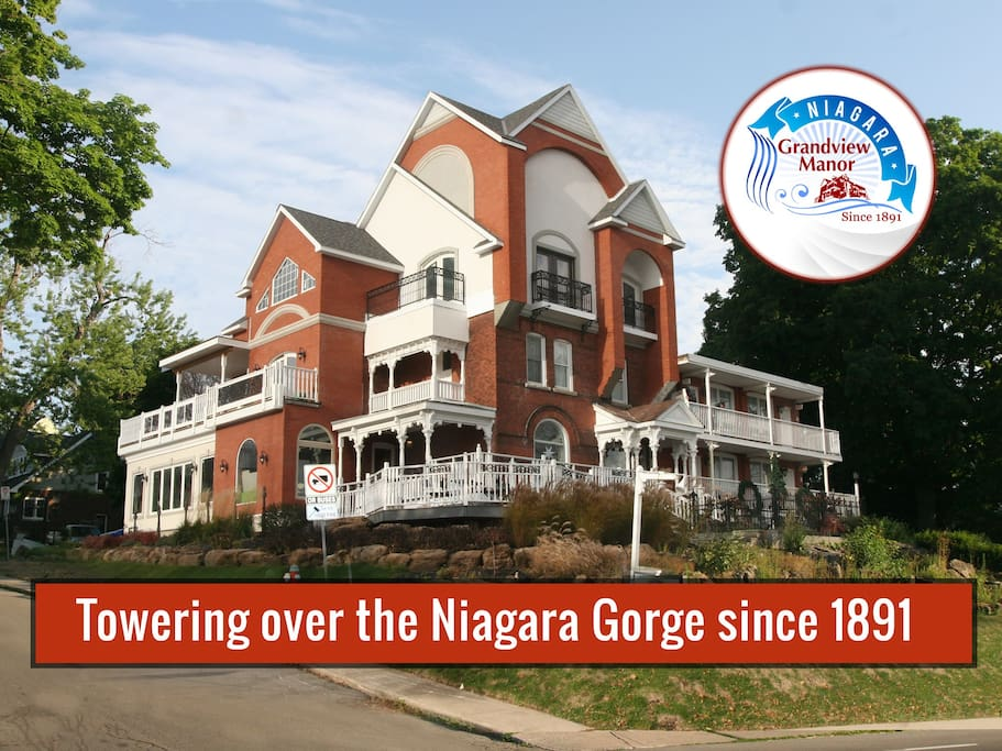 Towering over the Niagara Gorge since 1891, Niagara Grandview Manor is simply the best AirBNB rental value in Niagara Falls.