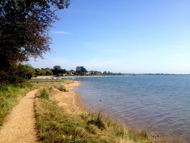 Our closest beach (1.5 miles away) The Emsworth foreshore