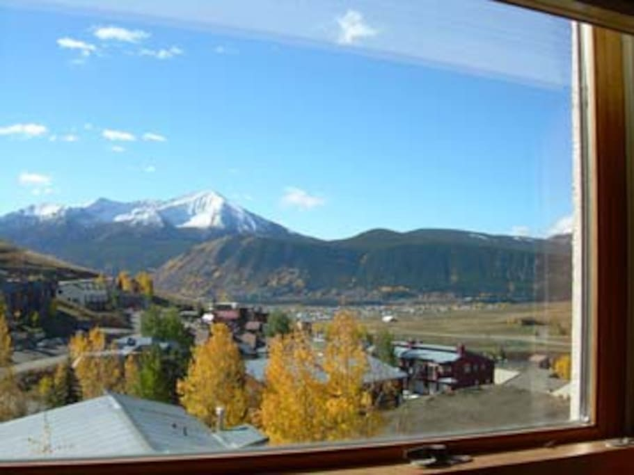 view is of Crested Butte Valley - though look to the left-CB mountain!