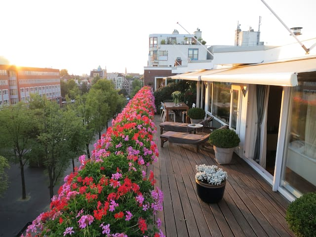 Penthouse with terrace in centrum