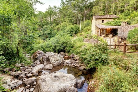 The Ancient water Mill - Ortignano Raggiolo - 自然地形を利用した家
