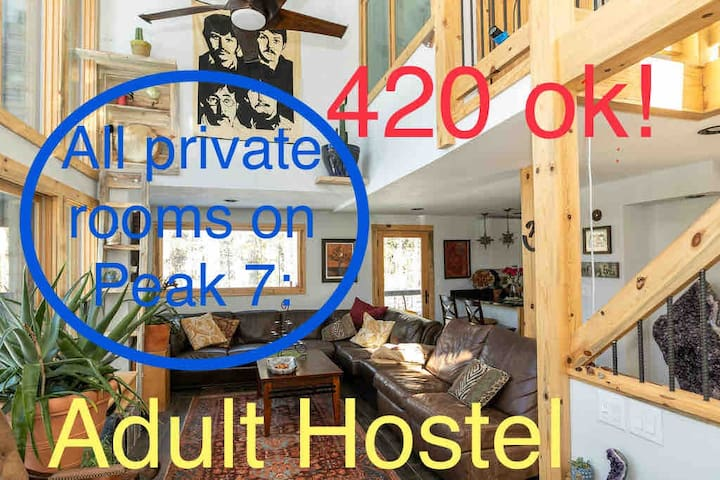 Private Room-2beds in Chill Adult Hostel; 420 cool