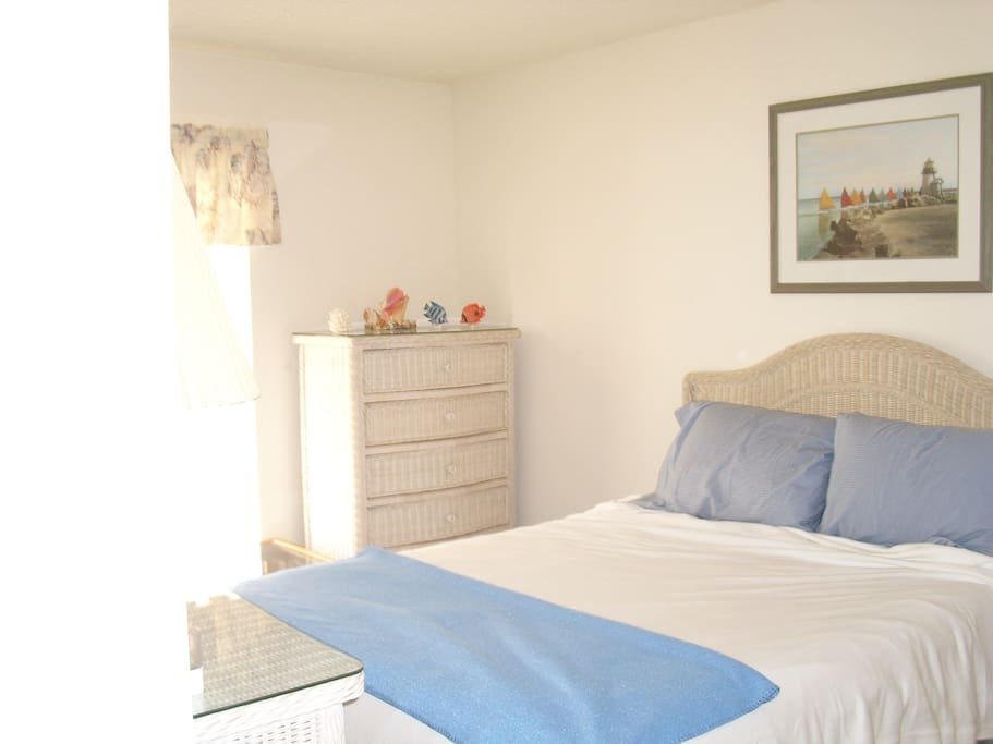Master Bedroom has walk in closet, tv/ flat screen and plenty of storage for clothing.