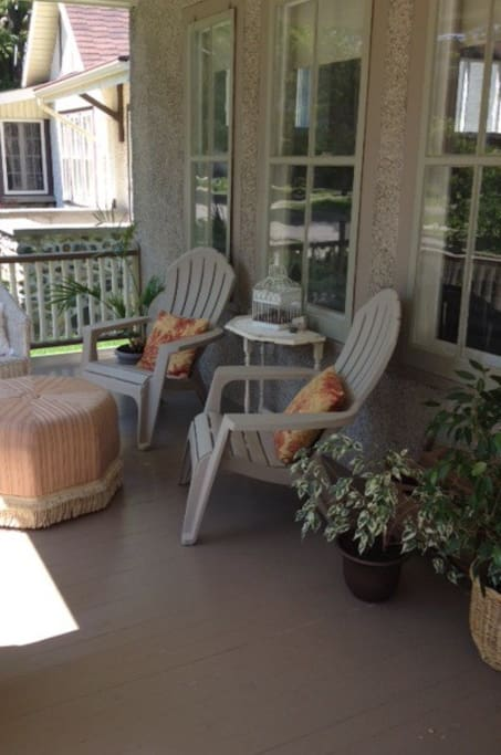 The front porch is a great place to relax.