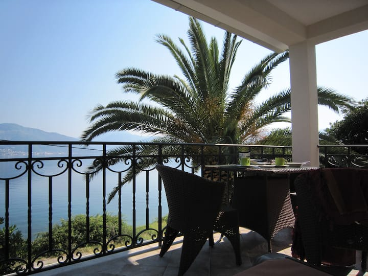 Villa with a sea view terrace