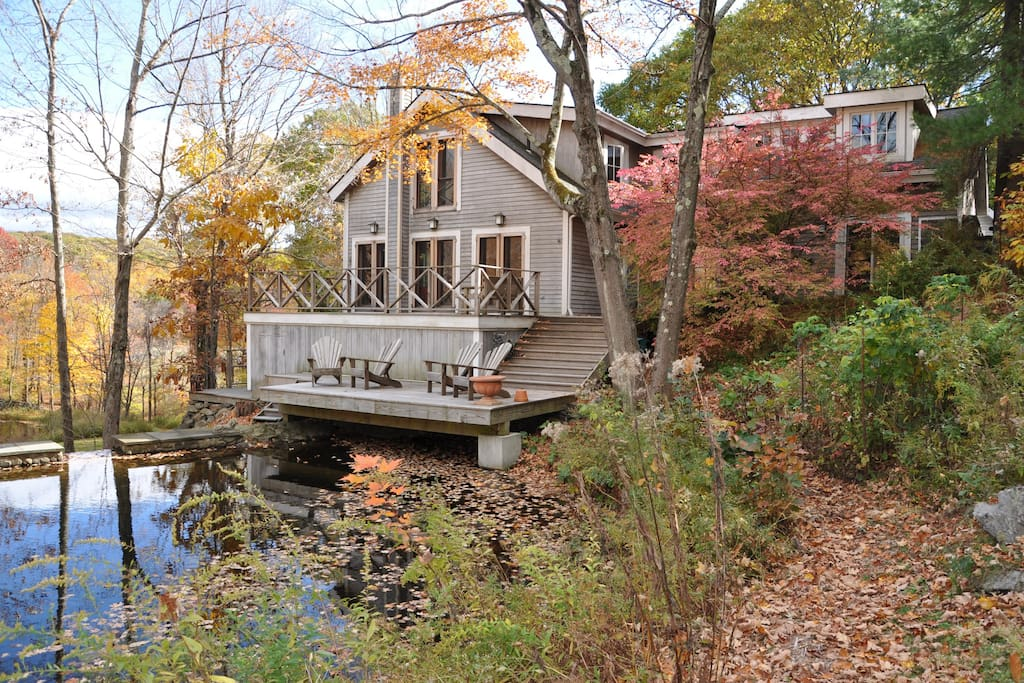 House and Upper Pond/Waterfall