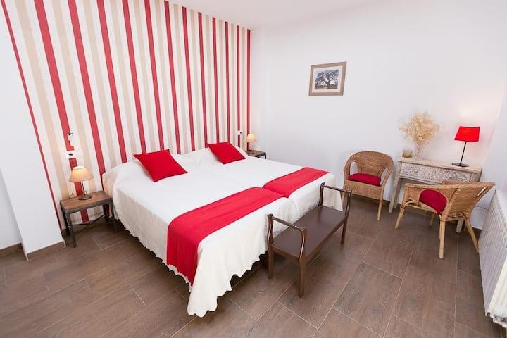 Habitación doble - 2 camas ventana techo