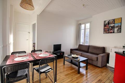 Appartement au pied RER A proche Paris et Disney