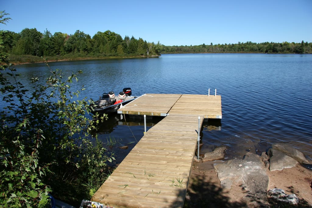 Dock with ladder and swim area