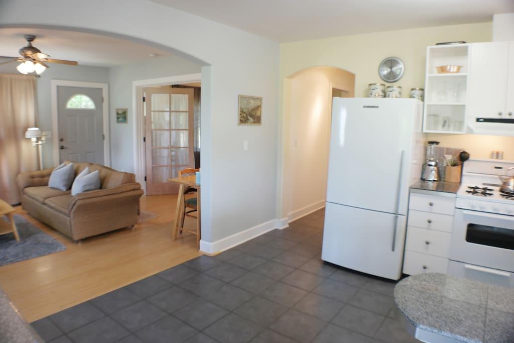 Open Floor Plan; View of Kitchen to Living Room