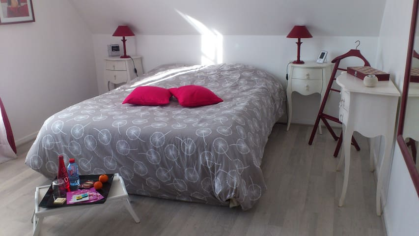 Bright room near Jouy / Saclay - Vauhallan, Saclay - Bed & Breakfast