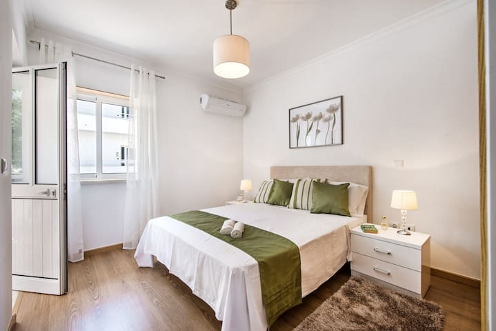 The master bedroom has an ensuite and private terrace