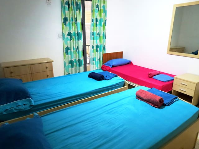 The 3-bed Shared Room!