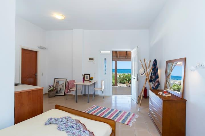 Sea & Sun apartments/studios right on the beach