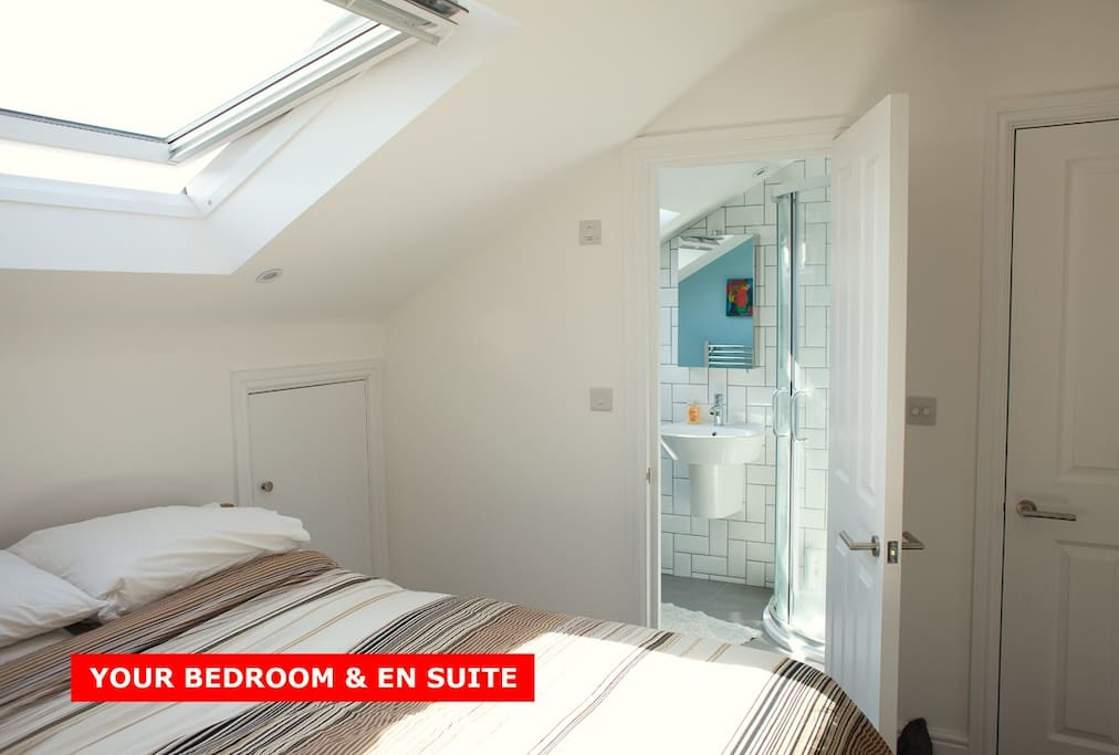 Brand new en-suite bathroom right next to your bed.