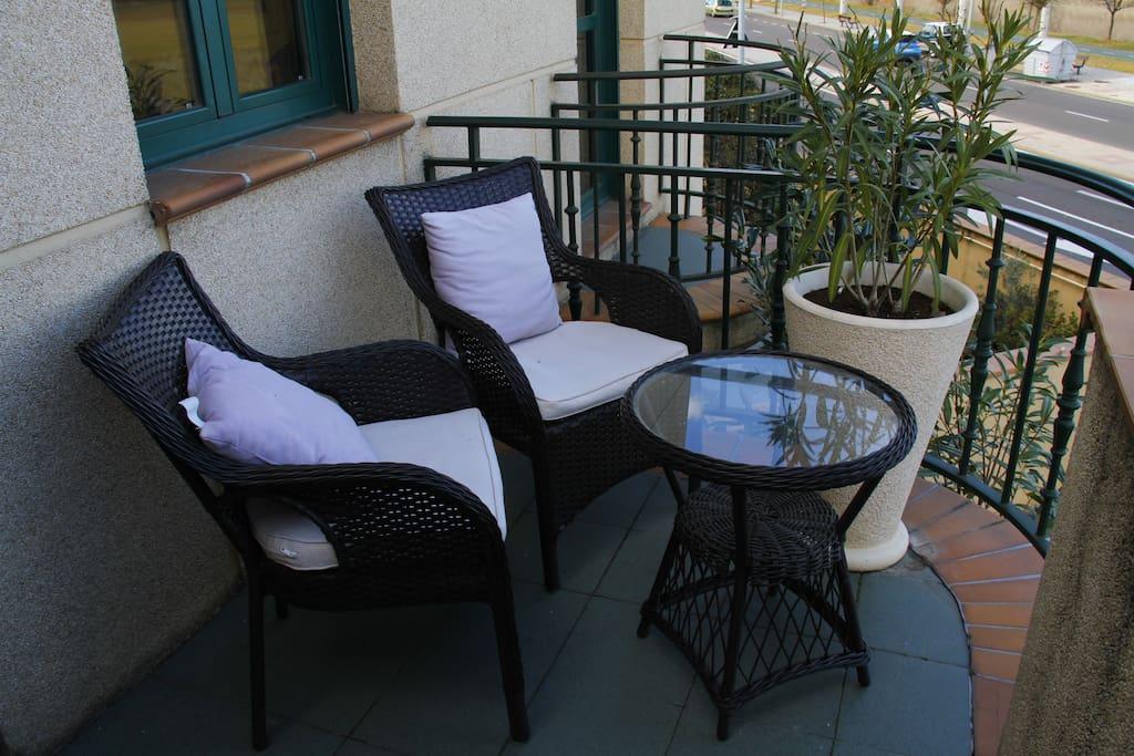 terraza privada habitación