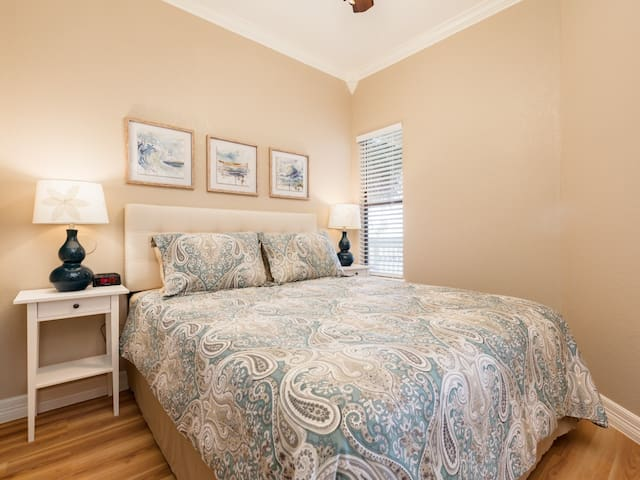 Queen bedroom #3 with HD television.