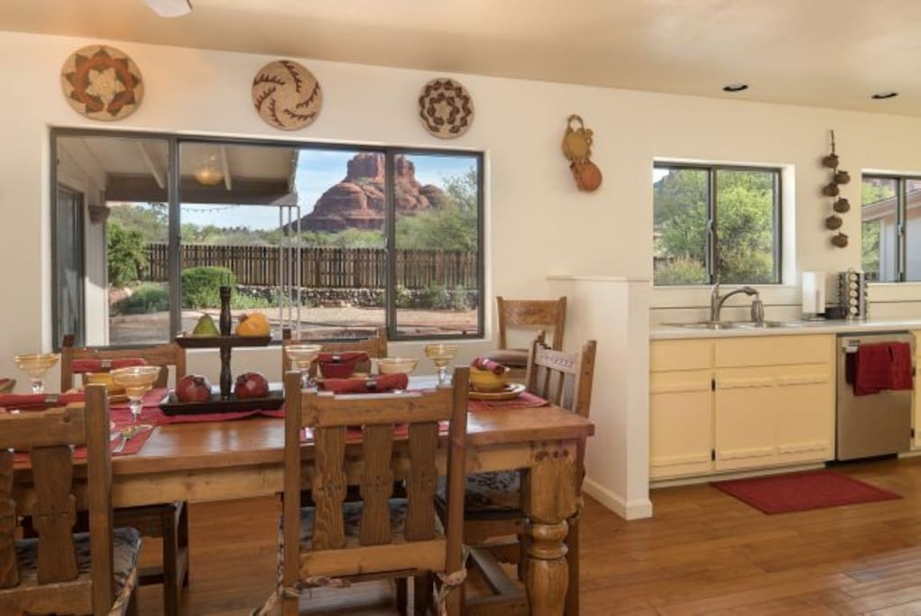 Great views from the kitchen and dining room