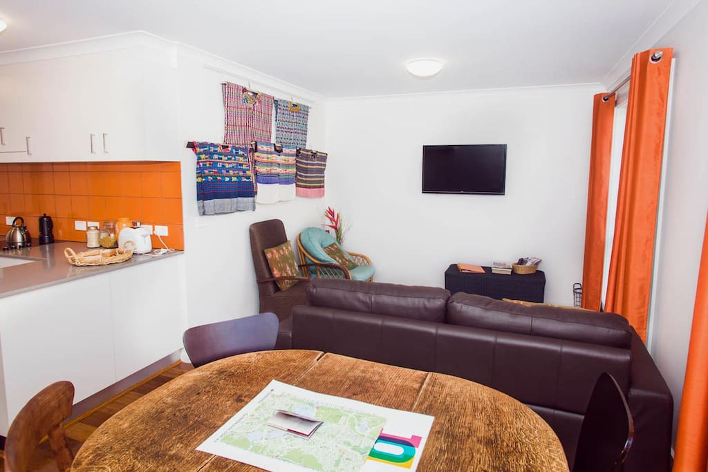 Spacious Mexico City themed apartment decorated with authentic huipil,