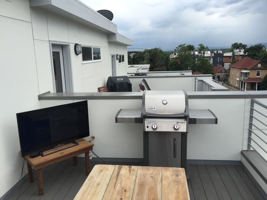 Stream channels like ESPN and grill out on the balcony