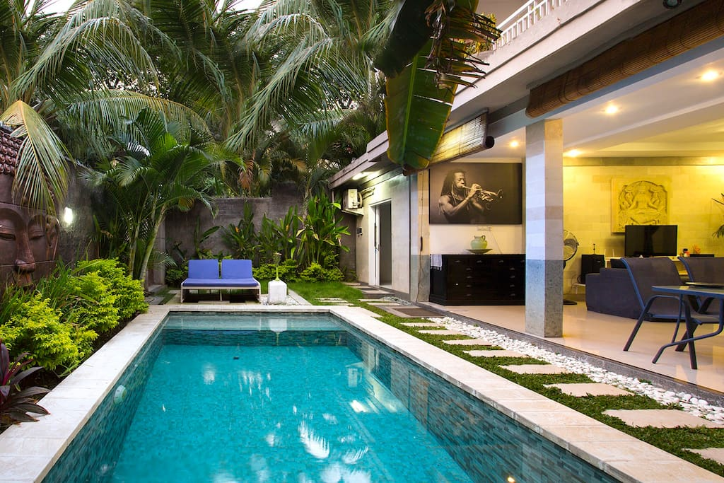 Pool and living room area