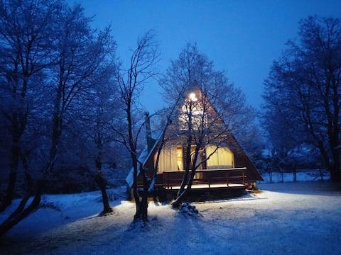 Cabaña privada para 6 en Termas de Chillan.