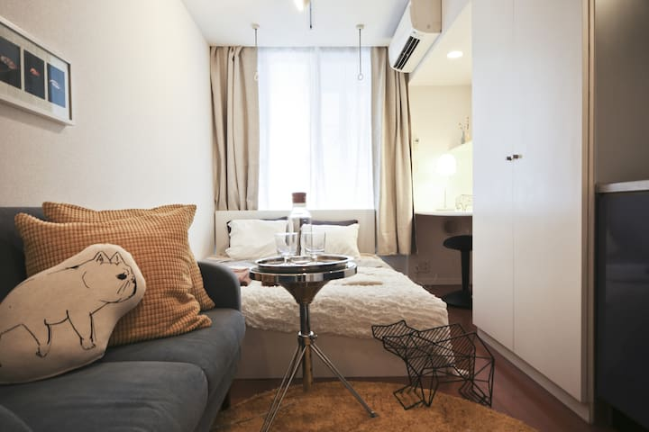 4min Walk from Tsukiji Market!/Cozy Studio/2ppl - Chūō-ku - Appartement