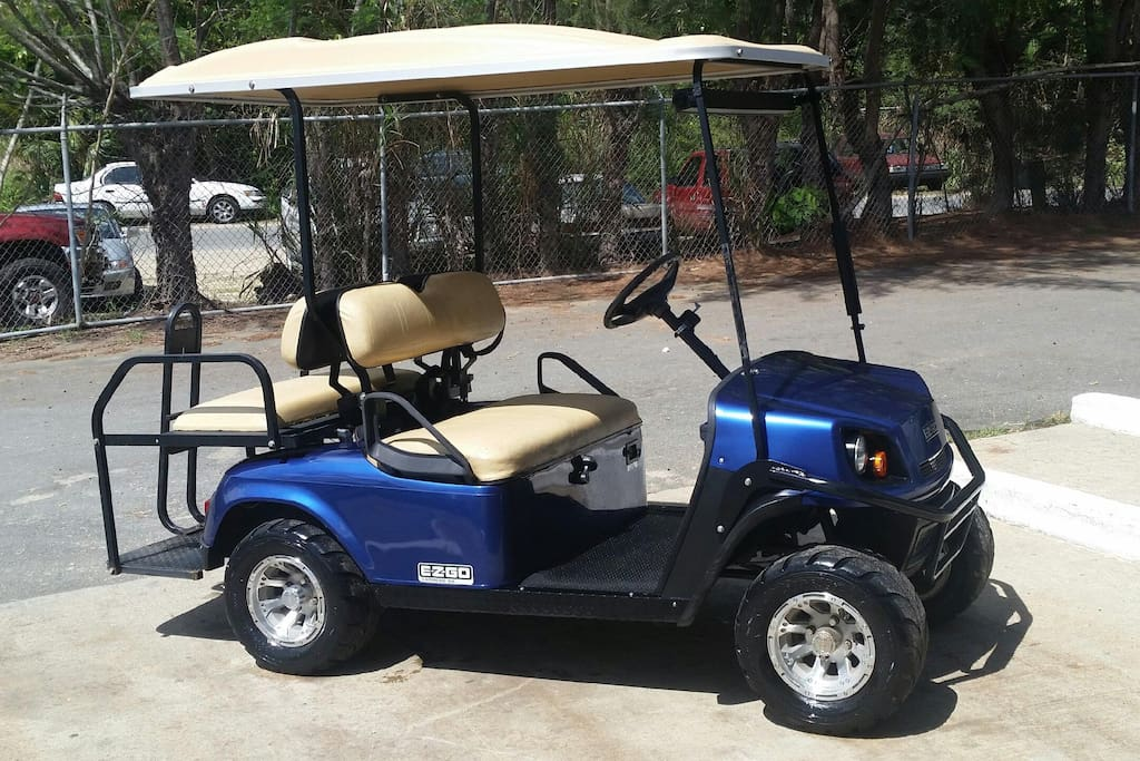 Golf cart for use while renting the villa