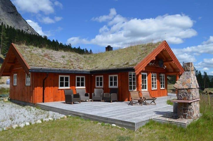 Stor, koselig og solfylt hytte  for 10 personer