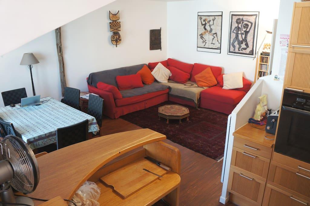 Appart 6 pers parc villette garage appartements louer for Location garage mecanique ile de france