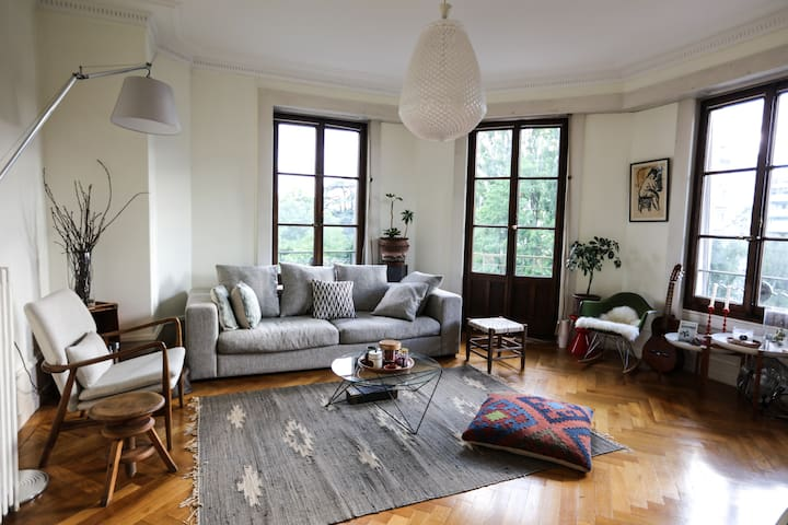 Spacious & Creative apartment near old town - Genève - Lejlighed