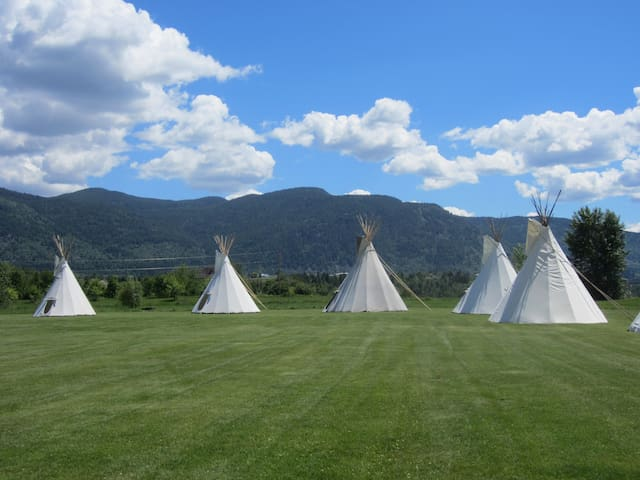 Ultimate Tipi Experience +4 Tickets - Rock Creek - Tipi