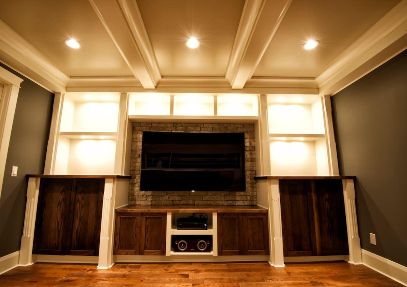 Upper level Living room entertainment unit
