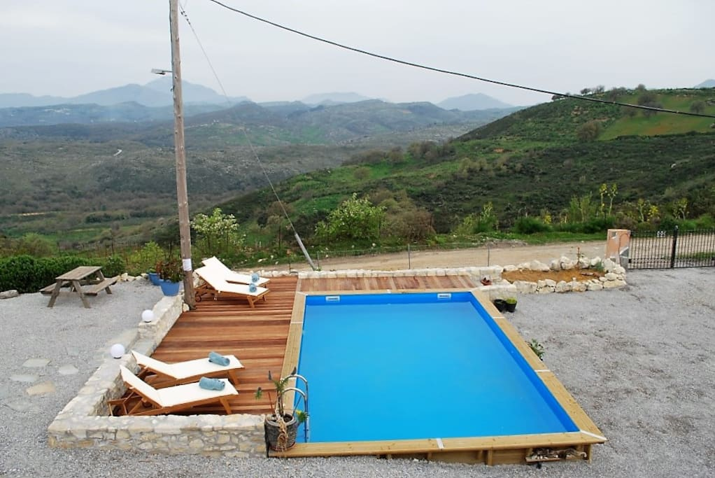 Pool overlooking the mountains