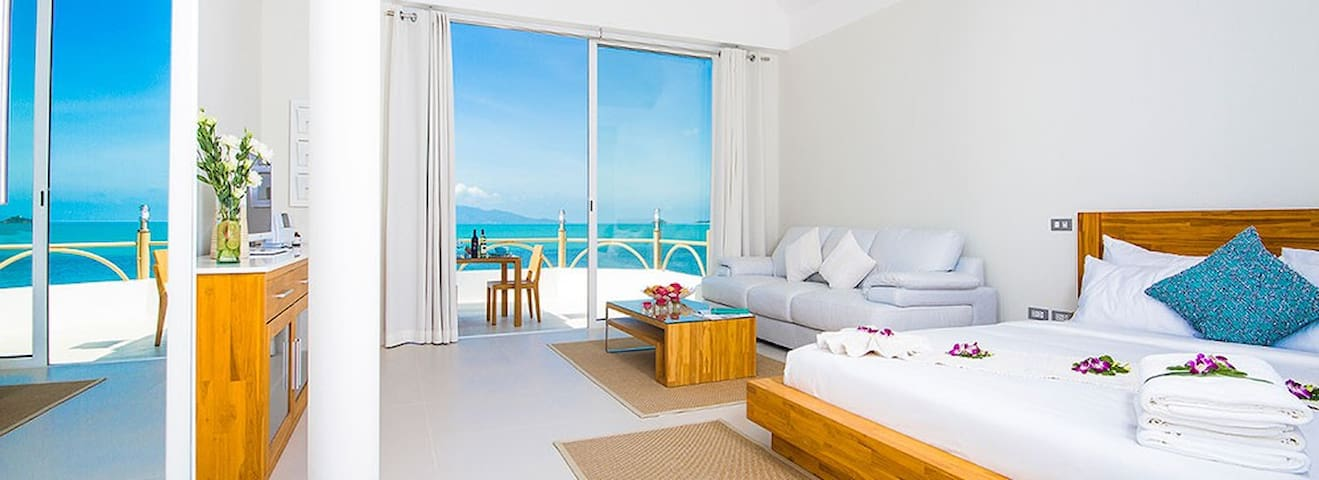 B1  Beachfront Apartments - Cyan Suite, Bophut