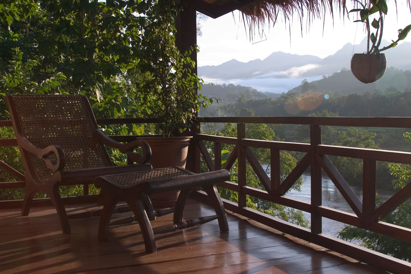 Relax on your very own Bungalow terrace with breathtaking views