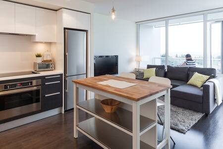 Cozy 1 BD w/ gym & view - Metrotown - Burnaby - Apartment