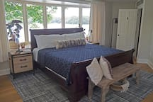 Master suite 1 with king bed, lake view