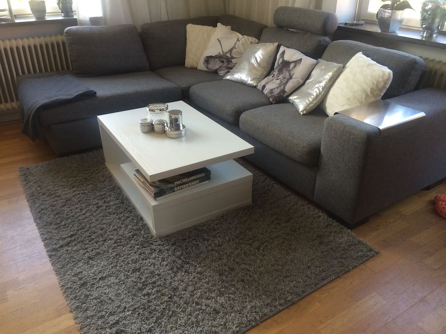 Very large sofa in the living room.