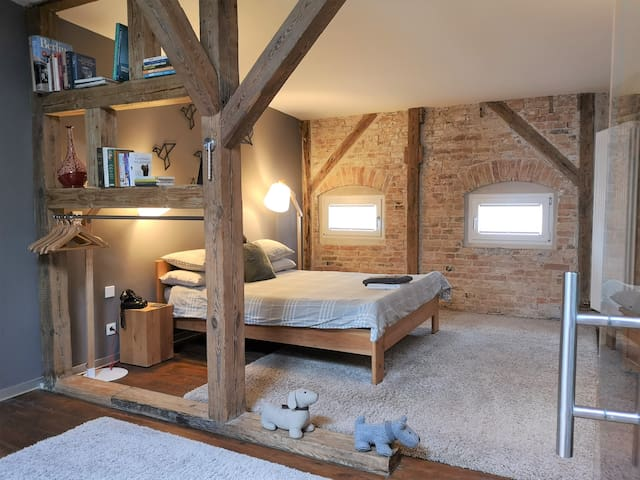 Huge Loft Berlin-Mitte with private bathroom + A/C