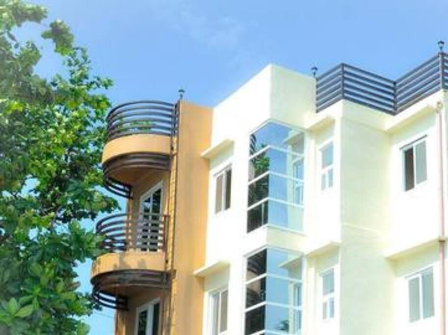 Private balcony patios!