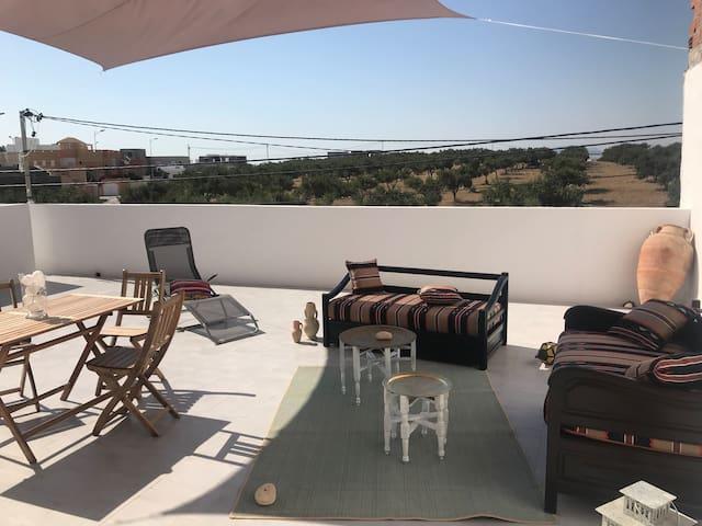 Appartement agréable avec une grande terrasse
