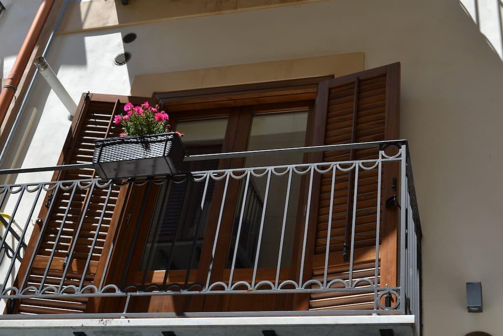 Balcone soggiorno camera da letto