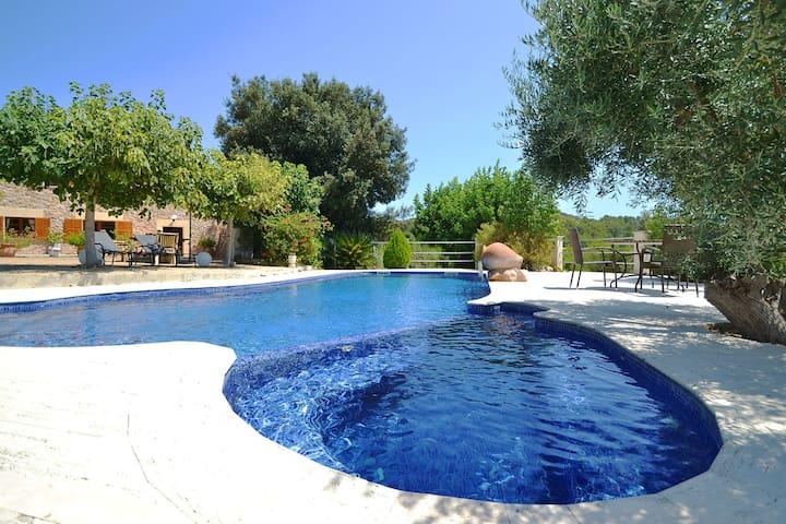 Maison de vacances calme, piscine privée, Alcudia, Majorque