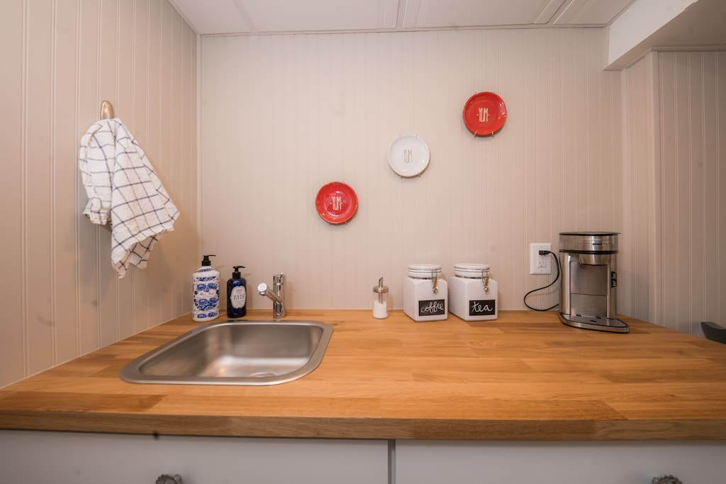 The Kitchenette has everything you could need for your nice getaway!