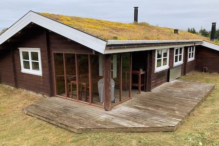 Familievenlig bjælkehus 500m fra havet