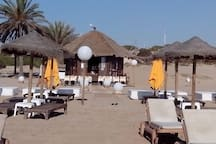 Casa en la playa con piscina Car
