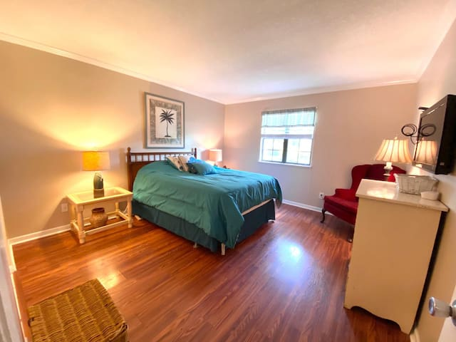 Master Bedroom- lots of closet space and adjoining bathroom