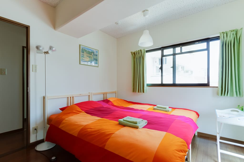 There are 2 single beds!FREE Wi-FI