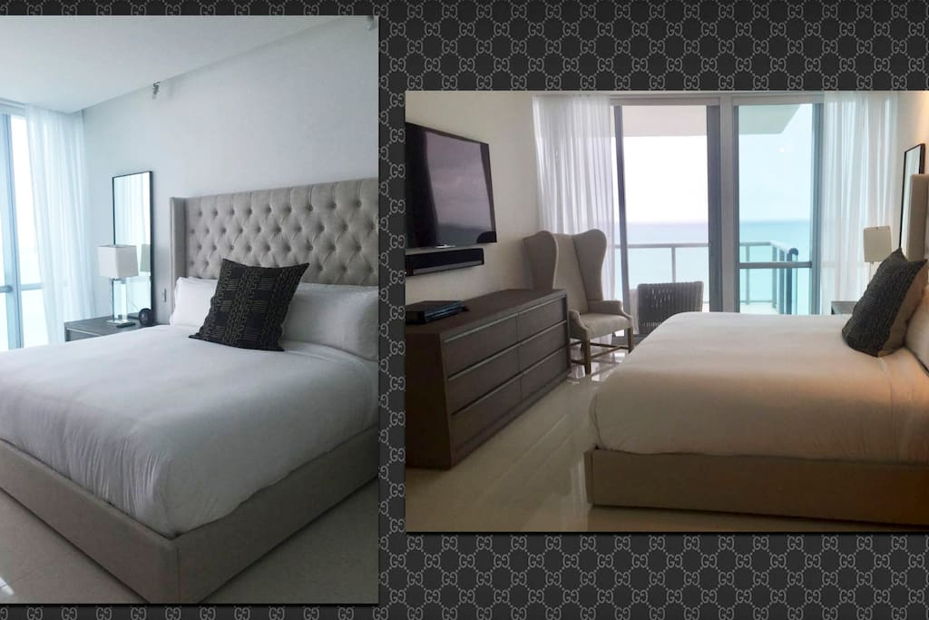 MASTER BEDROOM WITH BALCONY AND DIRECT OCEAN VIEWS!! SMART TV, AND HUGE BATHROOM